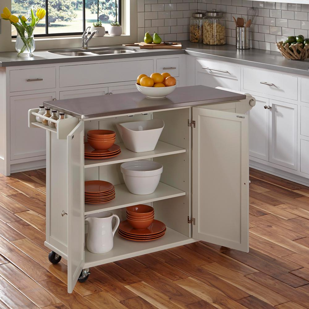 home styles kitchen cart shaker style liberty white 4512 95 the depot