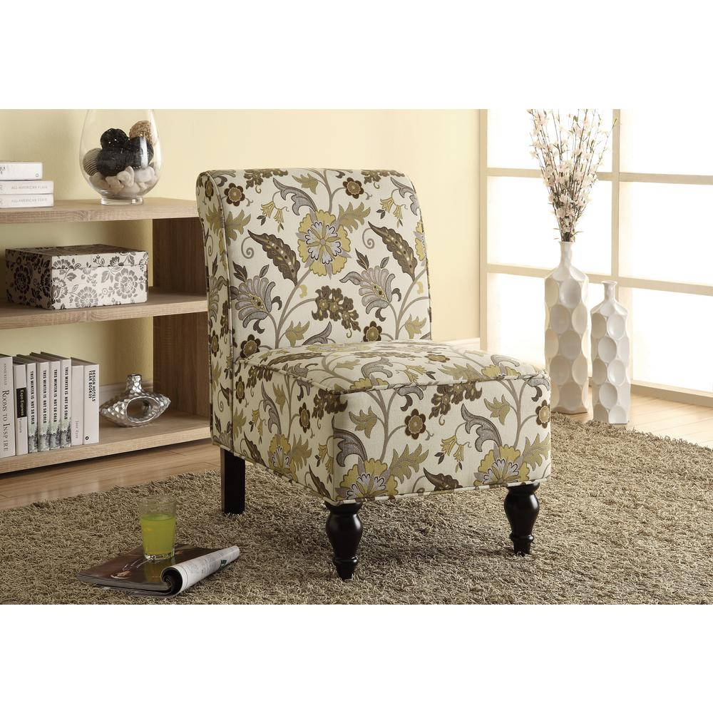 fabric accent chairs living room modern ceiling light fixtures monarch brown and gold chair i 8125 the home depot
