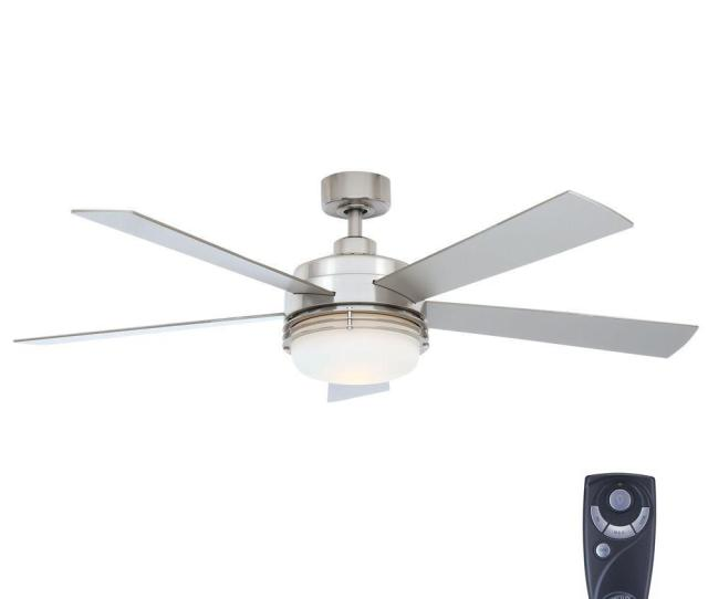 Hampton Bay Susii  In Indoor Brushed Nickel Ceiling Fan With Light Kit And