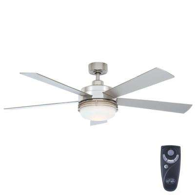hunter fan wiring diagram remote control upright x20n scissor lift included ceiling fans lighting the home depot indoor brushed nickel with light kit and