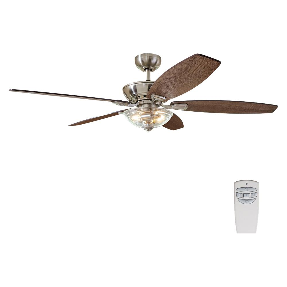 medium resolution of home decorators collection connor 54 in led brushed nickel dual mount ceiling fan with