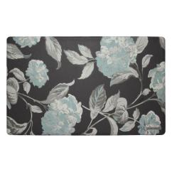 Memory Foam Kitchen Rug Outdoor Drawers Mats Rugs The Home Depot Hydrangea Dark Gray 20 In X 32