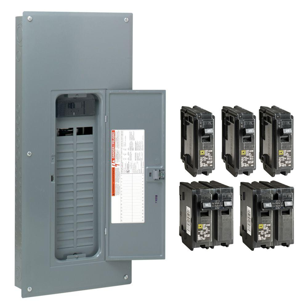 hight resolution of square d homeline 200 amp 30 space 60 circuit indoor main breaker plug on neutral load center with cover value pack hom3060m200pcvp the home depot