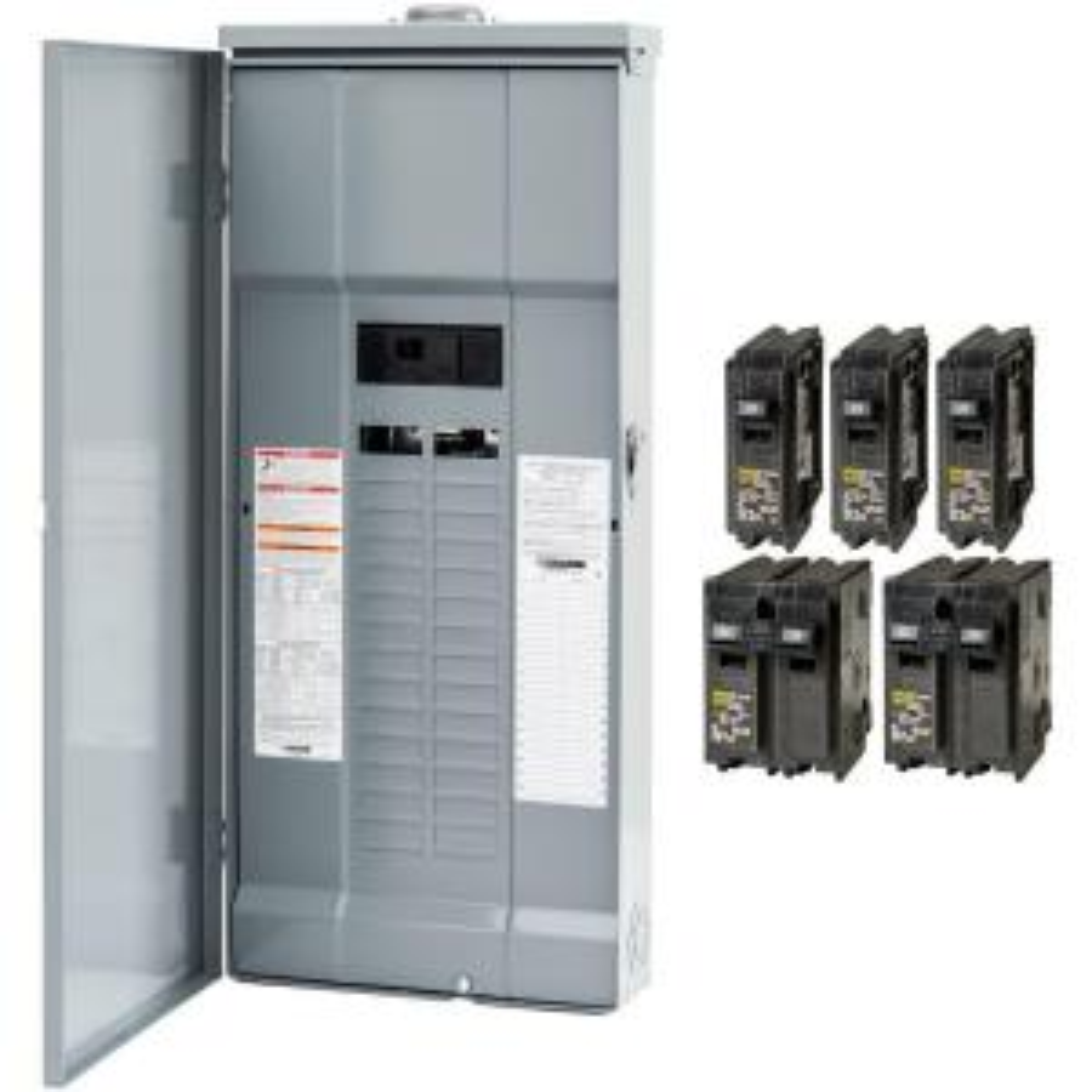 30 Amp Rv Generator Wiring Diagram Square D Homeline 200 Amp 30 Space 60 Circuit Outdoor Main