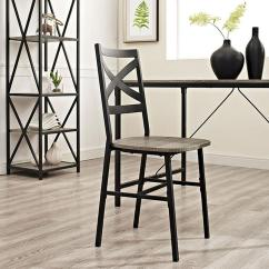 Chair Design Back Angle Antique Dining Chairs For Sale Walker Edison Furniture Company Iron X Driftwood Metal And Wood