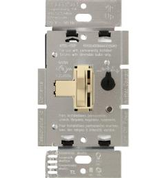 lutron toggler 250w c l dimmer switch for dimmable led halogen and incandescent bulbs single [ 1000 x 1000 Pixel ]