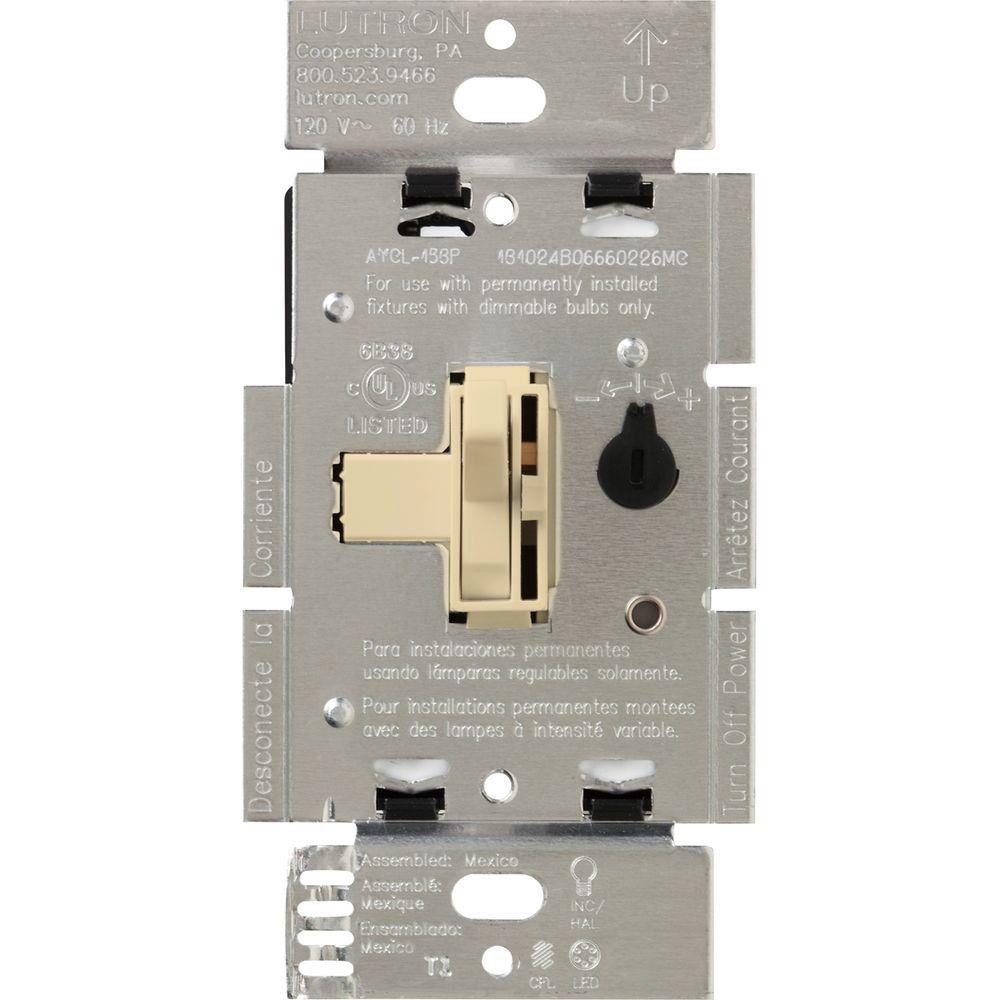 medium resolution of lutron toggler 250w c l dimmer switch for dimmable led halogen and incandescent bulbs single