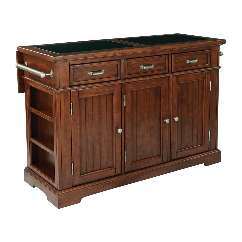 oak kitchen islands american standard porcelain sink farmhouse basics vintage island with granite top bp 4203