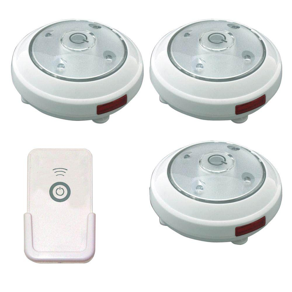 Rite Lite Remote Controlled Wireless Led Puck Lights