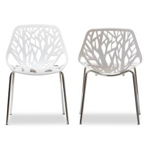 white plastic dining chairs best for lower back pain baxton studio birch sapling set of 2 3