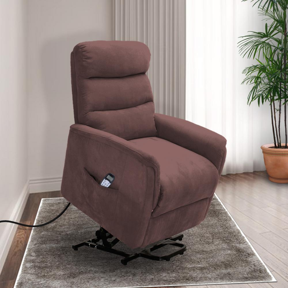 chair stand power hanging pier 1 lifesmart calla casa ultra comfort fitness lift with heat massage and remote in brown mocha microfiber