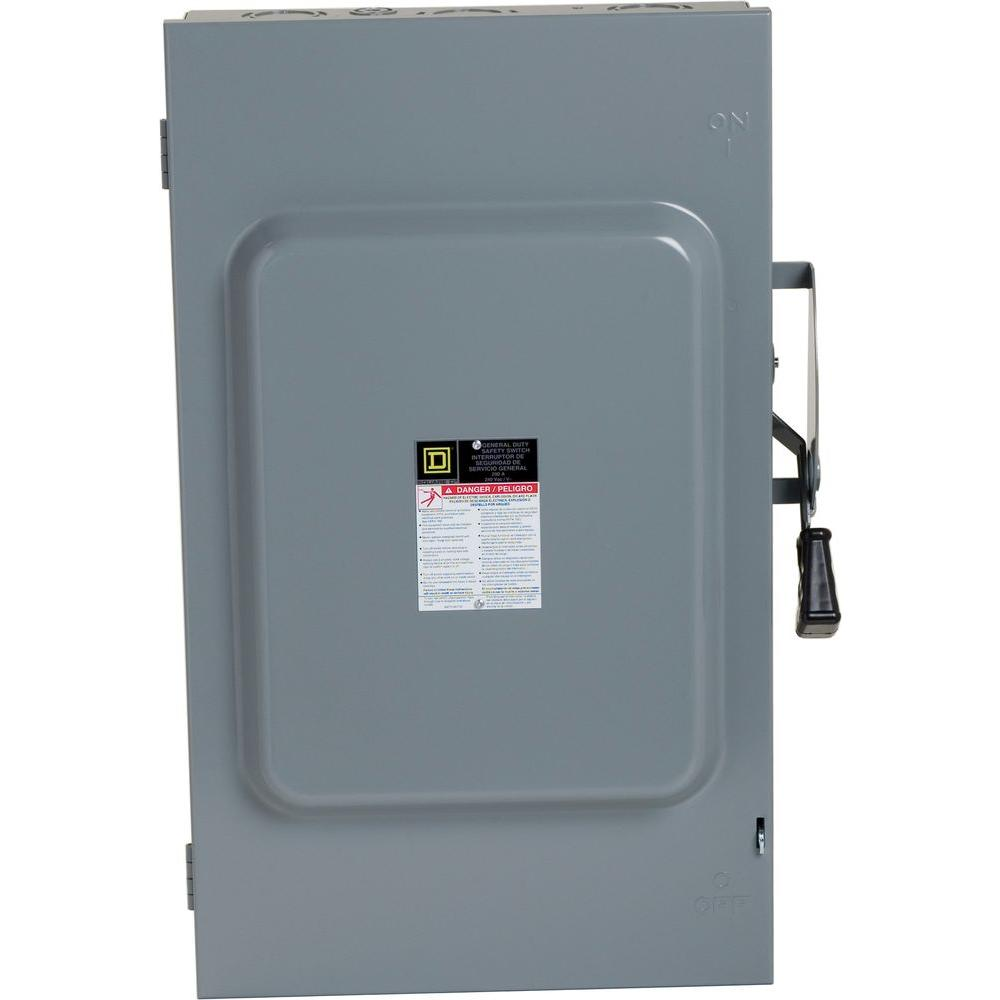 Square D 30 Amp 240volt 2pole Indoor Light Duty Safety Switch With