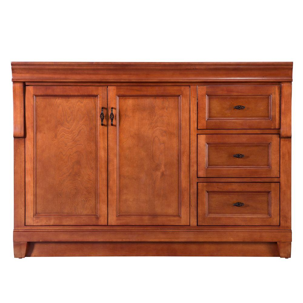 Foremost Naples 48 in W Bath Vanity Cabinet Only in Warm Cinnamon with Right Hand Drawers