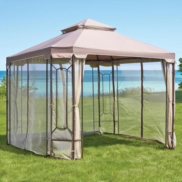 Hampton Bay Replacement Canopy 10 Ft. X Cottleville Gazebo-gfs00744a-cpy - Home Depot