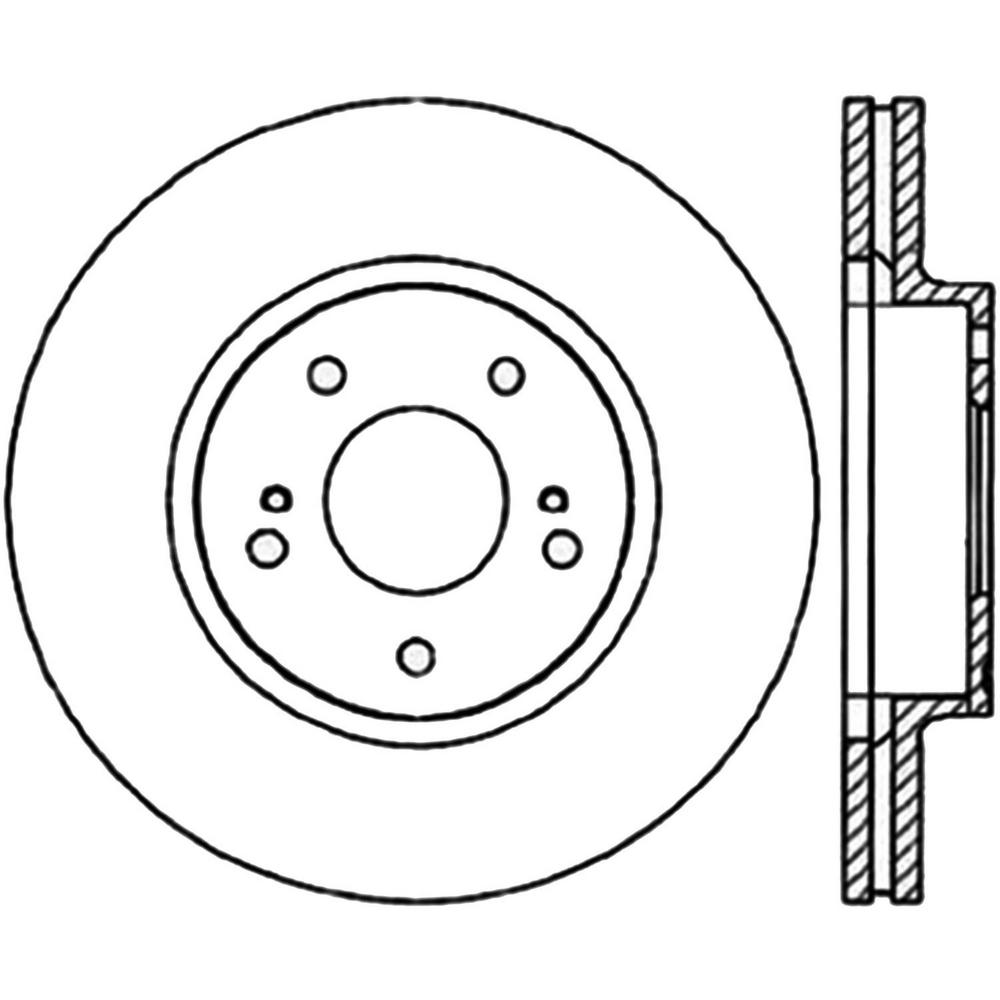 Centric Parts Disc Brake Rotor 1997-2001 Infiniti Q45-121