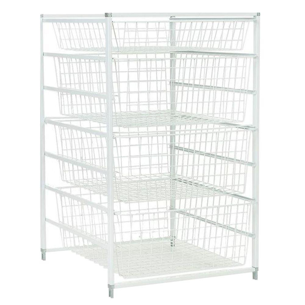 ClosetMaid 30 in. H Drawer Kit with 4 Wire Baskets-6201