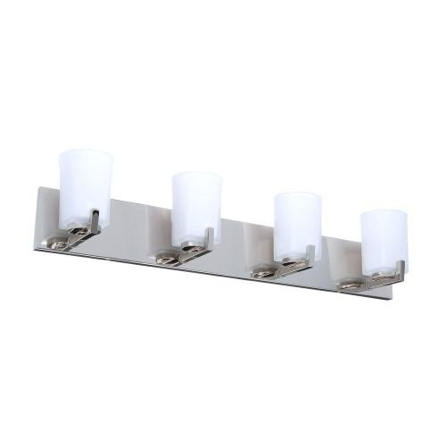 small resolution of hampton bay wellman 4 light polished nickel vanity light with etched white glass shades
