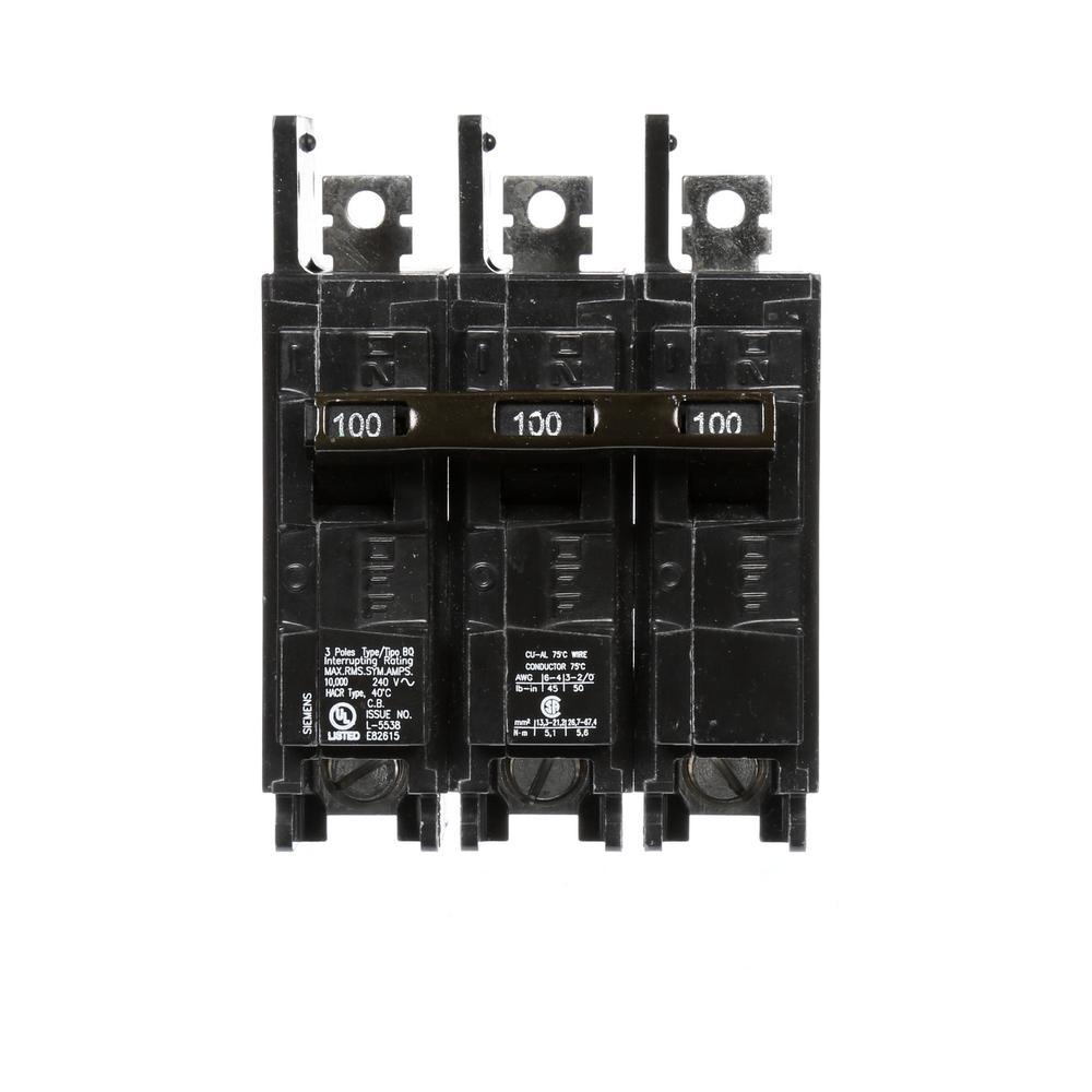 medium resolution of 100 amp 3 pole bq 10 ka lug in lug out circuit