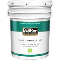 BEHR Premium Plus 5 gal. Ultra Pure White Semi-Gloss ...