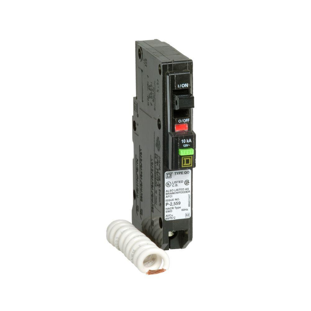 hight resolution of square d qo 20 amp single pole afci circuit breaker qo120afic the square d qo 20