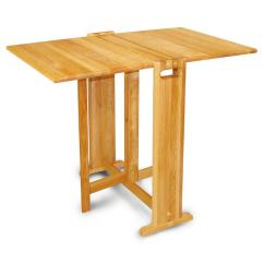 Fold Away Table And Chairs Chair Covers From Argos Catskill Craftsmen Natural Hardwood Butcher Block Folding 1622