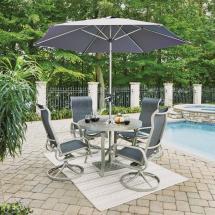 Home Styles South Beach Gray 7-piece Aluminum