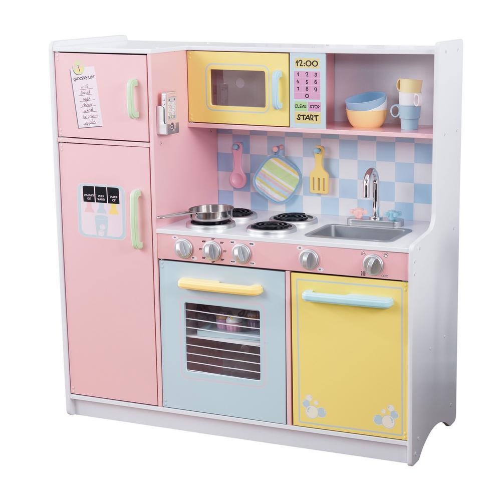 KidKraft Large Pastel Kitchen Playset53181  The Home Depot