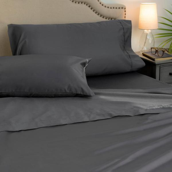 4-piece Platinum 1000 Thread Count Cotton Poly King Sheet Set-ehda-ss-king-04 - Home Depot