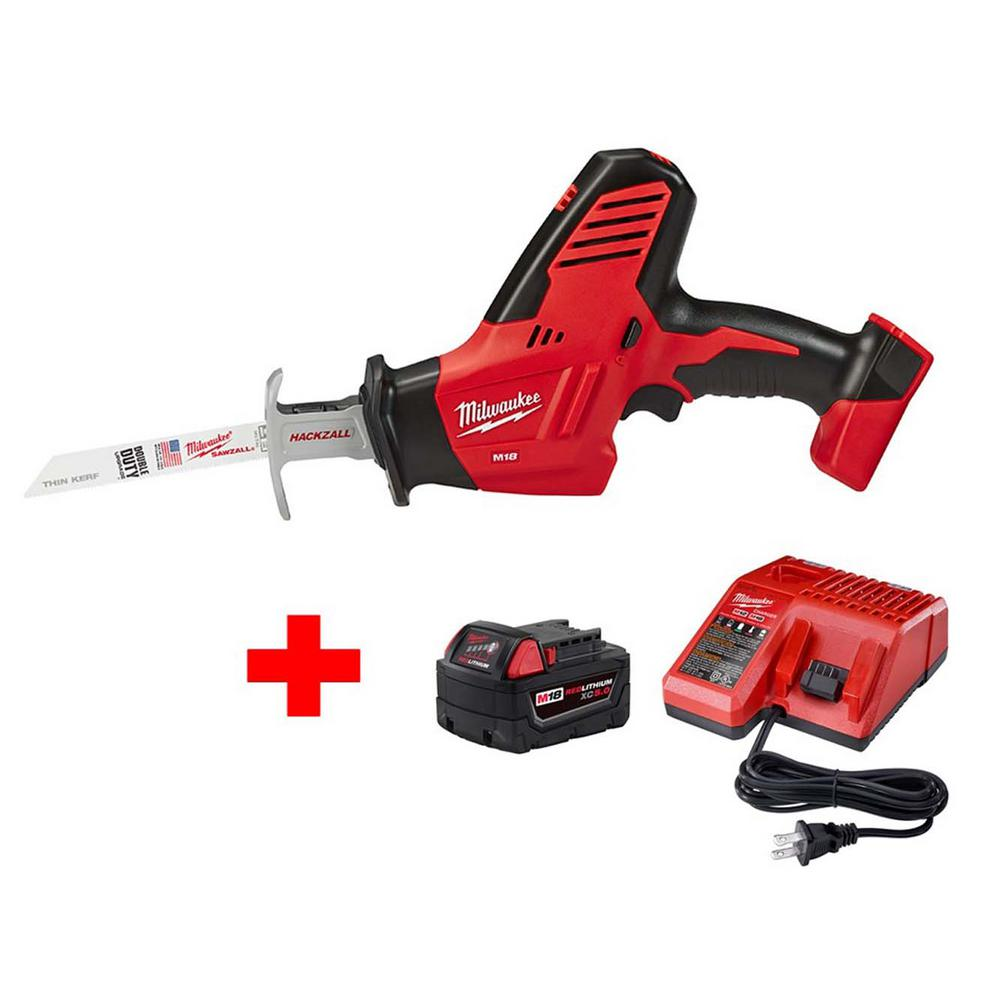 medium resolution of this review is from m18 18 volt lithium ion cordless hackzall reciprocating saw w m18 starter kit w 1 5 0ah battery and charger