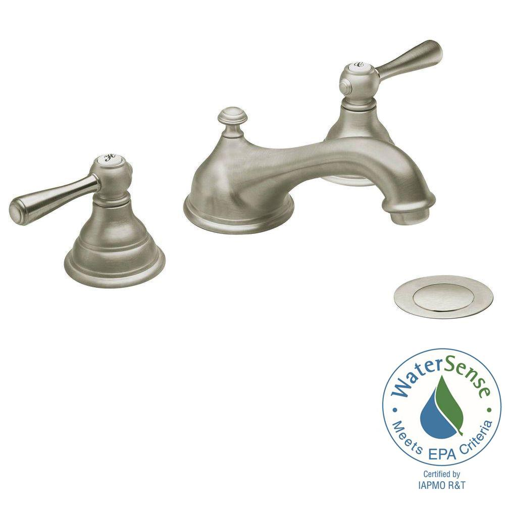 Moen Kingsley Bathroom Faucet Moen Kingsley 8 In Widespread 2 Handle Low Arc Bathroom Faucet Trim Kit In Brushed Nickel Valve Not Included