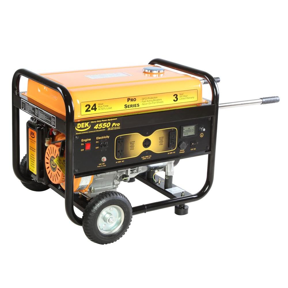 medium resolution of pro series 4550 watt gasoline powered portable generator with 170cc 100 copper