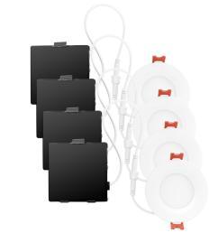 ultra slim designer series ambient dimming integrated led recessed lighting kit 4 pack  [ 1000 x 1000 Pixel ]