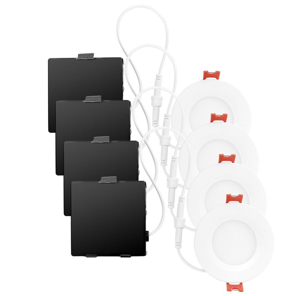medium resolution of ultra slim designer series ambient dimming integrated led recessed lighting kit 4 pack