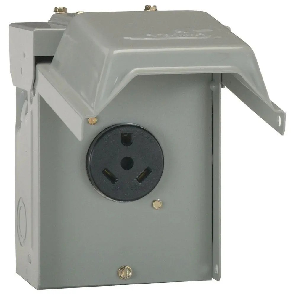hight resolution of ge 30 amp temporary rv power outlet