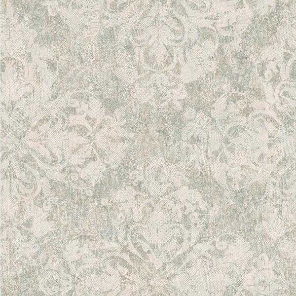 Chesapeake Leia Sage Lace Damask Wallpaper Sample