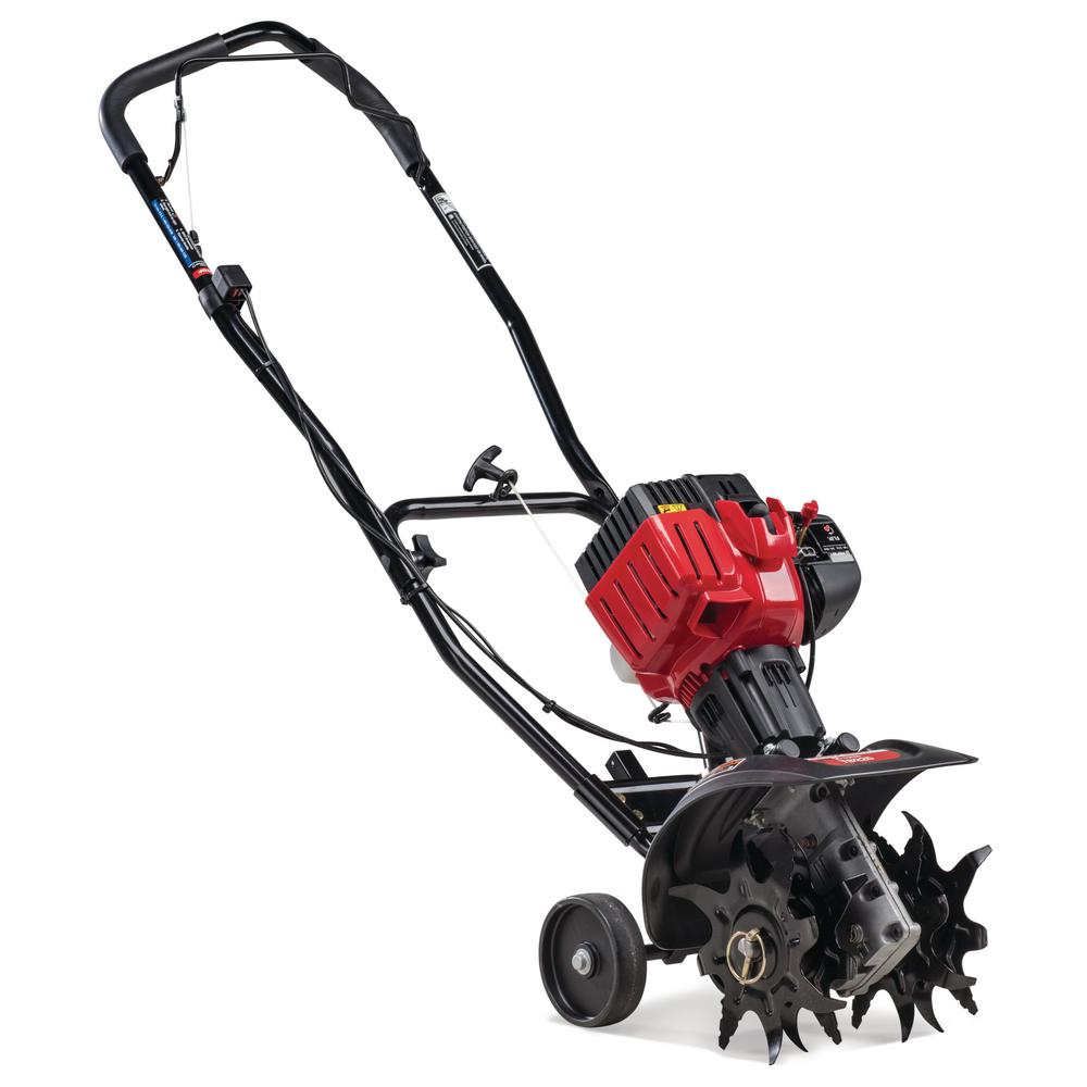 hight resolution of troy bilt 9 in 25cc 2 cycle gas cultivator with springassist starting technology