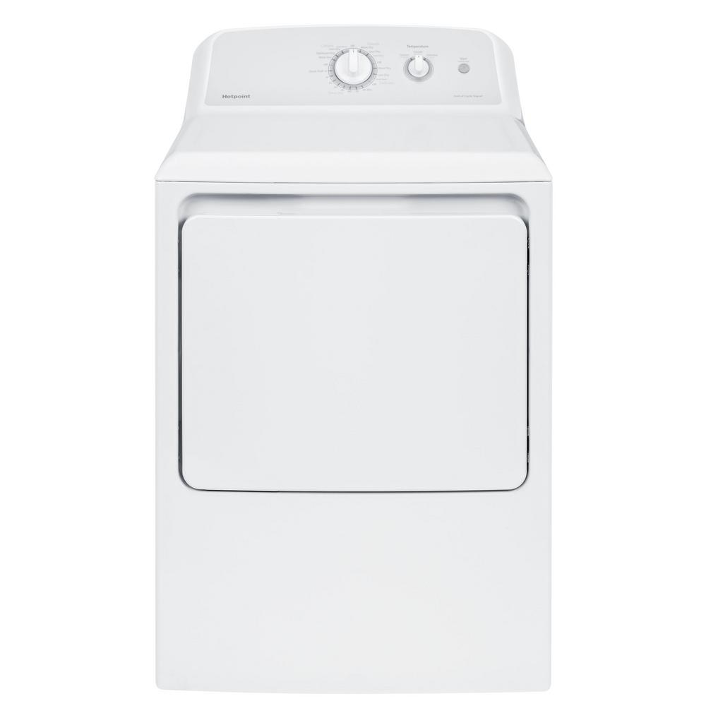 hight resolution of hotpoint 6 2 cu ft 240 volt white electric vented dryer