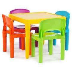 Table And Chairs For Kids Fold Up Computer Chair Tables Playroom The Home Depot Playtime 5 Piece Vibrant Colors Set