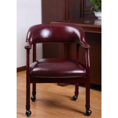 Captains Chair Wrought Iron Table And Chairs Boss Oxblood Vinyl Captain S B9545 By The Home Depot