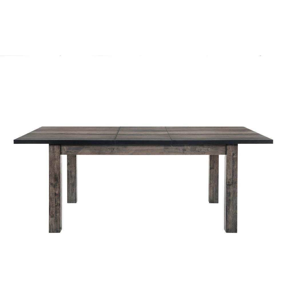 oak kitchen table bosch appliances grayson rustic gray dining internet 304268527