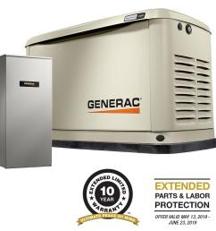 generac 11000 watt lp 10000 watt ng air  [ 1000 x 1000 Pixel ]