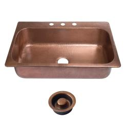 Copper Sink Kitchen Unfinished Chairs Sinks The Home Depot Angelico
