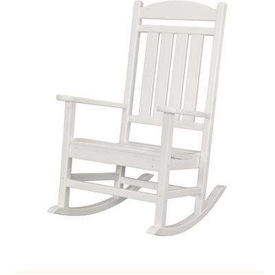 rocking chair white outdoor rust accent chairs patio the home depot