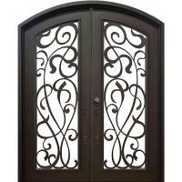 ALLURE IRON DOORS & WINDOWS 74 in. x 82 in. Eyebrow St ...