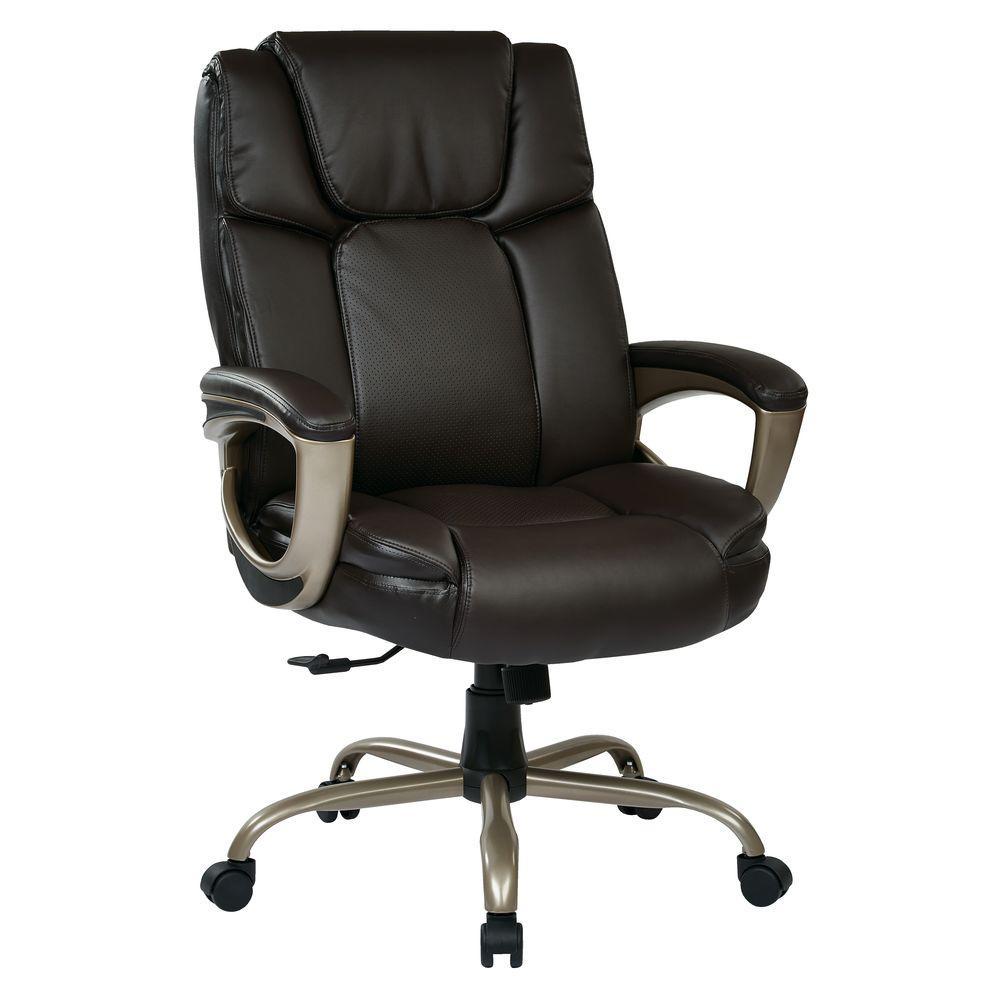 big mans chair ergonomic johor bahru work smart espresso eco leather man s executive office