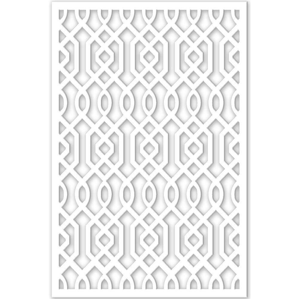 Acurio Latticeworks 1/4 in. x 32 in. x 4 ft. White Vinyl