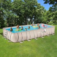 Bestway 14 ft. x 48 in. Power Steel Frame Pool Set-56445E ...