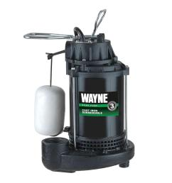 1 3 hp cast iron submersible sump pump with vertical float switch [ 1000 x 1000 Pixel ]