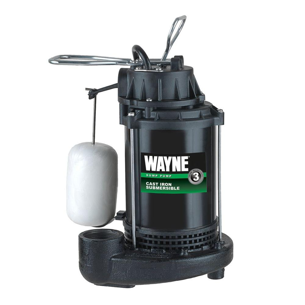 medium resolution of 1 3 hp cast iron submersible sump pump with vertical float switch
