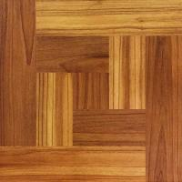 TrafficMASTER Brown Wood Parquet 12 in. x 12 in. Peel and